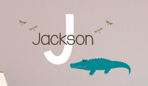 Alligator Name Decal Set