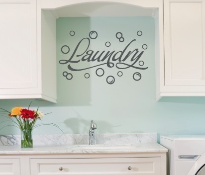 Laundry Room with Bubbles Wall Decal