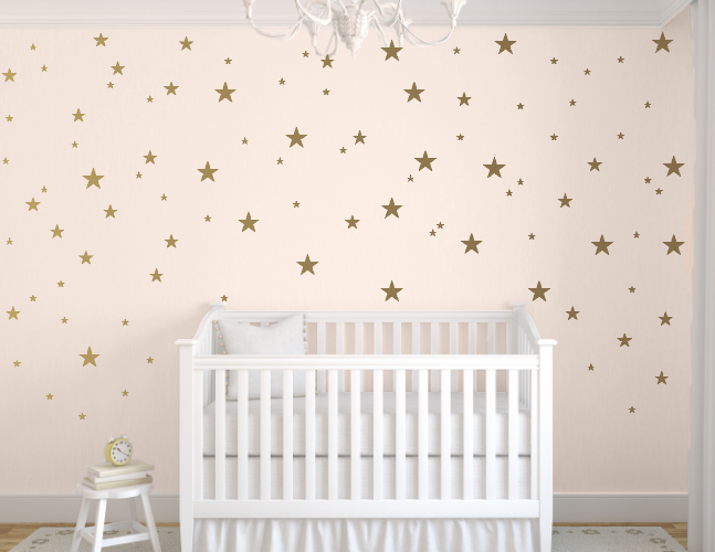 Star Wall Decals Kids Baby Wall Decor