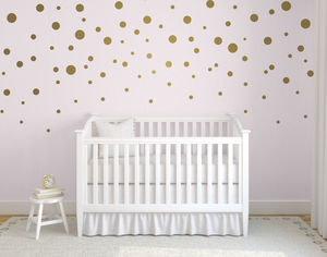 Gold Polka Dots_Mixed Sizes