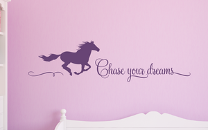 Chase your dreams_horse Decal_Violet
