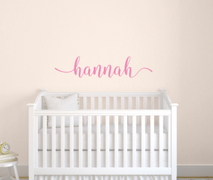 Name Decal with Swirls, Girls personalized Name Decal