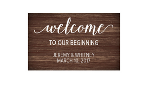 Welcome to our Beginning Vinyl Decal
