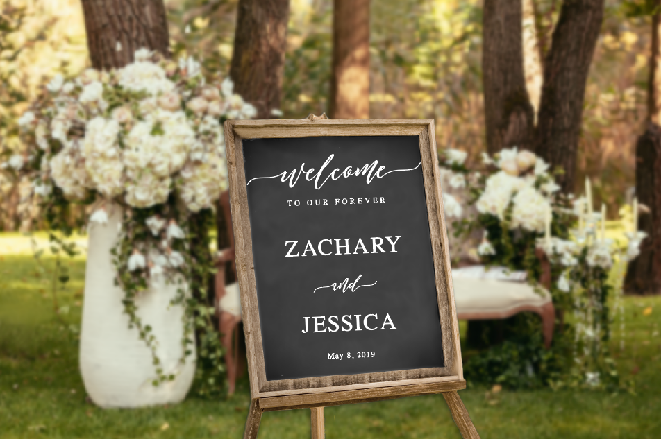 Welcome to our Forever Decal for Sign Making Vinyl Decal for Wedding Sign Wedding Decor Wedding Mirror Chalkboard Personalized Wedding Sign