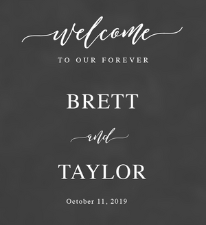 Personalized Welcome to our Forever Vinyl Decal