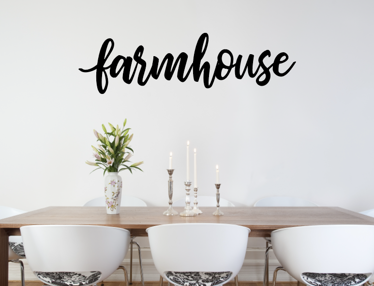 farmhouse decal black, farm house decor