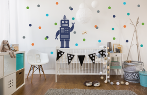 "2"" Polka Dot set for Boys - Set of 60 Polka Dots"