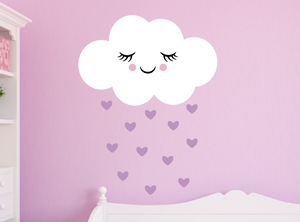 happy cloud decal - lilac