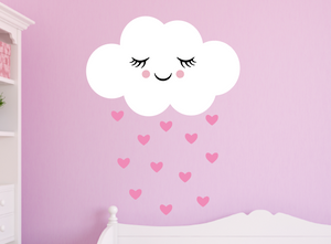 happy cloud decal - soft pink