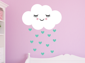 happy cloud decal - mint