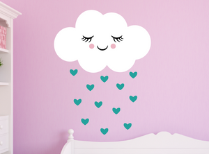 happy cloud decal - turquoise