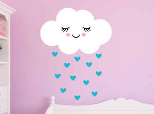 happy cloud decal - geyser blue