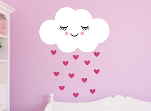 happy cloud decal - dark pink