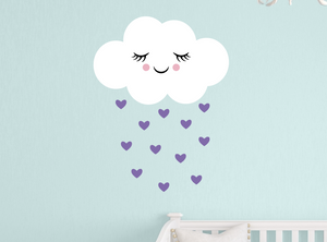 happy cloud decal - lavender