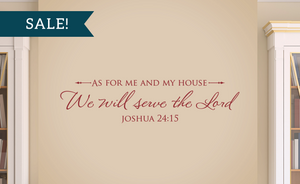 ON SALE, Dark Red, As for me and my house, We will serve the Lord - Joshua 24:15