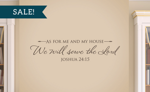 ON SALE, Chocolate Brown, As for me and my house, We will serve the Lord - Joshua 24:15