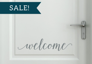 ON SALE, Grey, Welcome Vinyl Decal