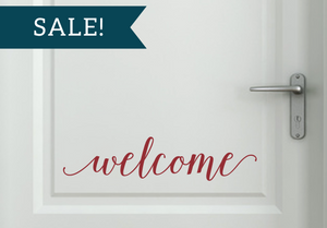ON SALE, Dark Red, Welcome Vinyl Decal
