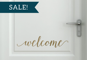 ON SALE, Metallic Gold, Welcome Vinyl Decal