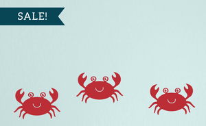 ON SALE, Red, Crab Wall Decal Set - Set of 3