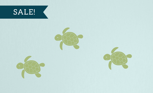ON SALE, Celadon, Baby Sea Turtles Wall Decal Set - Set of 3