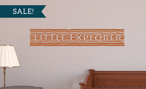 ON SALE, Rust Brown, Little Explorer Vinyl Decal