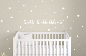 Twinkle Twinkle Little Star Wall Decal for Nurseries & Kids Bedroom Wall Decor