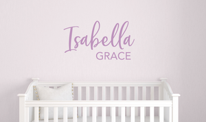 Girls Personalized Name Decal, Nursery Wall Decor