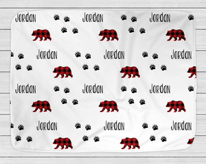 Personalized Baby Blanket with Bears