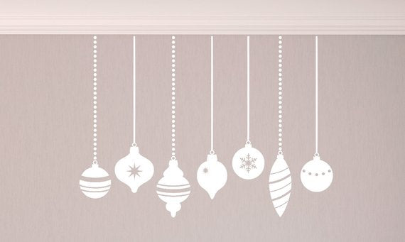 Vintage Christmas Ornaments Vinyl Decal