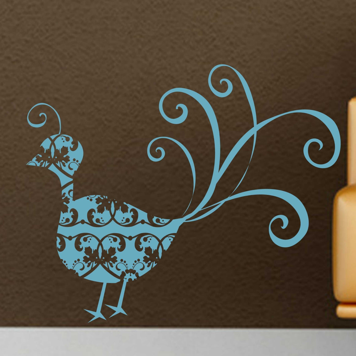 Victorian Peacock Vinyl Wall Decal