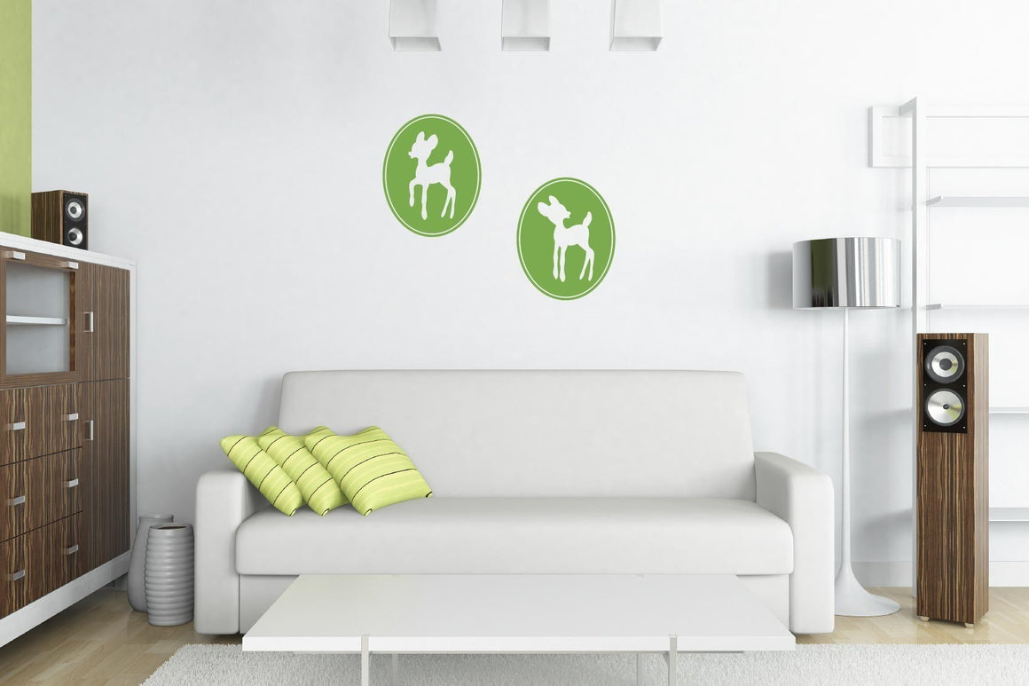 Framed Deer Silhouettes Vinyl Wall Decal