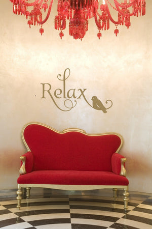 Relax Vinyl Wall Decal