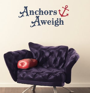 Anchors Aweigh Nautical Wall Decal Set
