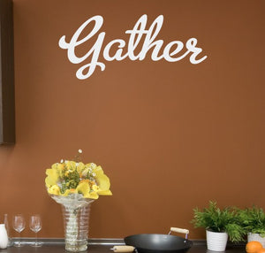 Gather Vinyl Wall Decal