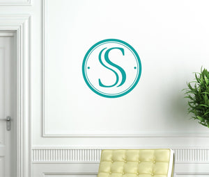 Modern Monogram Wall Decal