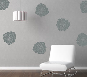 Peony Flower Blooms Vinyl Decal Set