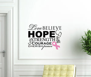 Cancer Awareness Vinyl Wall Decal