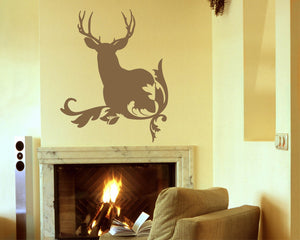 Deer Silhouette Vinyl Wall Decal