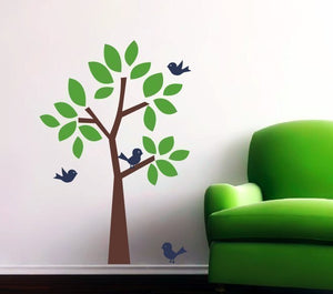 Tree and birds Wall Decal Set