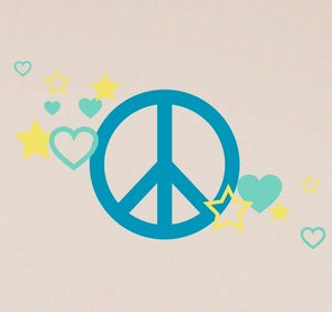 Peace Sign Wall Decal Set