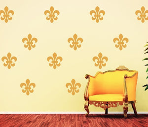 Fleur De Lis Vinyl Wall Decal Set