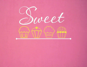 Sweet Cupcakes Vinyl Wall Decal
