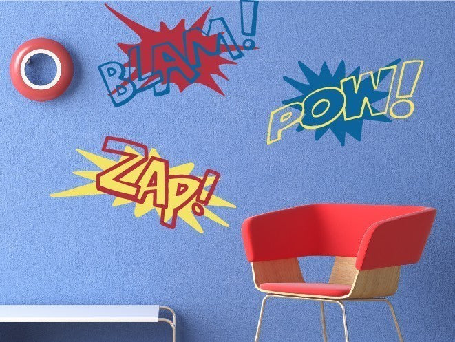 Super Hero Sound FX Wall Decal Set