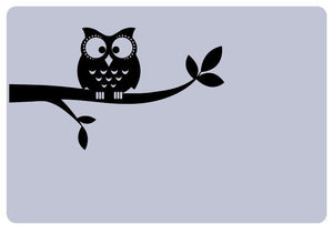 Owl on a Branch Vinyl Laptop Decal
