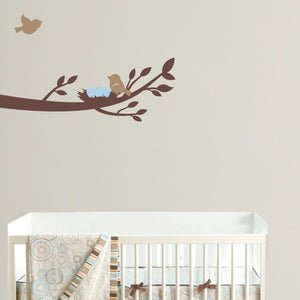 Branch with Nest Vinyl Wall Decal