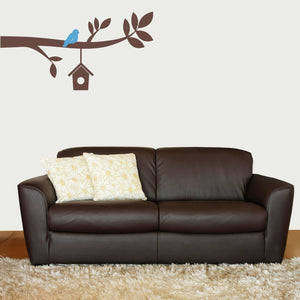 Branch with birdhouse Vinyl Wall Decal