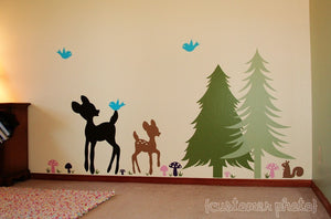 Woodland Wonderland Vinyl Wall Decal Set