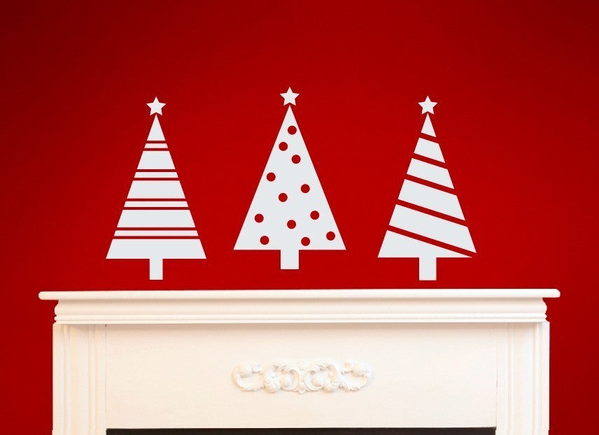 Holiday Trees Vinyl Wall Decal