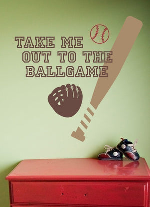 Take me out to the ballgame Wall Decal Set